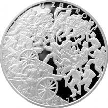 Stříbrná mince 500 Kč Bitva u Zborova 100. výročí 2017 Proof