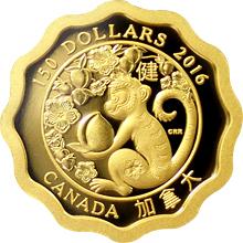 Zlatá minca Požehnánie zdravia Lotos 2016 Proof (.99999)