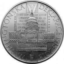 Stříbrná mince 500 Kč Přijetí Washingtonské deklarace 100. výročí 2018 Standard
