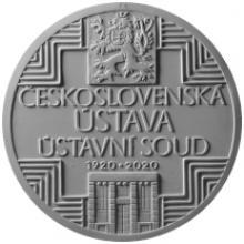 Strieborná minca 500 Kč Schválenie československej ústavy 100. výročie 2020 Proof