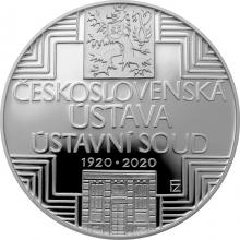 Stříbrná mince 500 Kč Schválení československé ústavy 100. výročí 2020 Proof