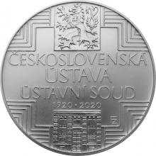 Stříbrná mince 500 Kč Schválení československé ústavy 100. výročí 2020 Standard