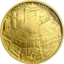 Zlatá mince 5000 Kč Hrad Kost 2016 Proof