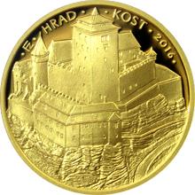 Zlatá minca 5000 Kč Hrad Kost 2016 Proof