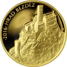 Zlatá minca 5000 Kč Hrad Bezděz 2016 Proof
