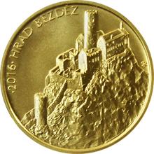 Zlatá minca 5000 Kč Hrad Bezděz 2016 Štandard