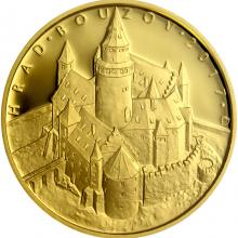 Zlatá mince 5000 Kč Hrad Bouzov 2017 Proof
