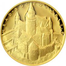 Zlatá minca 5000 Kč Hrad Bouzov 2017 Proof
