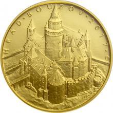Zlatá minca 5000 Kč Hrad Bouzov 2017 Štandard
