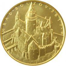 Zlatá mince 5000 Kč Hrad Bouzov 2017 Standard