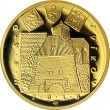Zlatá minca 5000 Kč Hrad Zvíkov 2018 Proof
