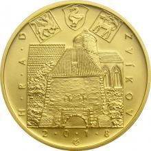 Zlatá minca 5000 Kč Hrad Zvíkov 2018 Štandard