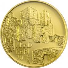 Zlatá mince 5000 Kč Hrad Rabí 2018 Standard