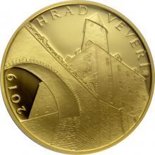 Zlatá minca 5000 Kč Hrad Veveří 2019 Proof