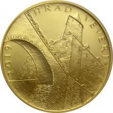 Zlatá minca 5000 Kč Hrad Veveří 2019 Štandard