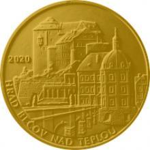 Zlatá mince 5000 Kč Hrad Bečov nad Teplou 2020 Proof