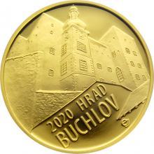 Zlatá minca 5000 Kč Hrad Buchlov 2020 Proof