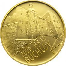 Zlatá minca 5000 Kč Hrad Buchlov 2020 Štandard