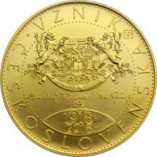 Zlatá minca 10000 Kč Vznik Československa 1oz 2018 Štandard