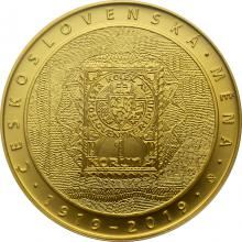 Zlatá mince 10000 Kč Zavedení československé měny 1oz 2019 Standard