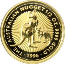 Zlatá investiční mince The Australian Nugget 1996 1/2 Oz