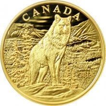 Zlatá mince Impozantní alfa vlk 2015 Proof (.99999)