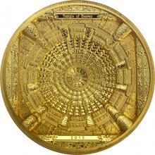 Zlatá mince Chrám nebes Kesonový strop 2015 Proof