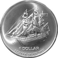 Stříbrná investiční mince Bounty Cook Islands 1 Oz 2015