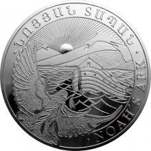 Stříbrná investiční mince Noemova archa Arménie 5 Kg