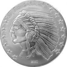 Stříbrná investiční medaile Incuse Indian 1 Oz