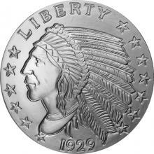 Stříbrná investiční medaile Incuse Indian 5 Oz