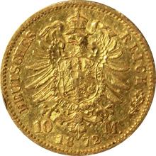 Zlatá mince 10 Marka Vilém I. Pruský 1872 - 1873