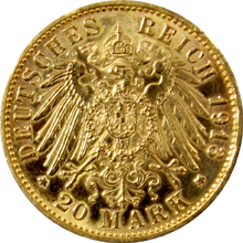 Zlatá mince 20 Marka 1893 - 1913