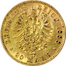 Zlatá mince 20 Marka Fridrich III. Pruský 1888