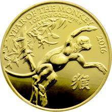 Zlatá investičná minca Rok Opice Lunárny The Royal Mint 1 Oz 2016