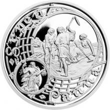 Stříbrná medaile Staroměstský orloj - Panna 2015 Proof
