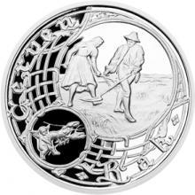 Stříbrná medaile Staroměstský orloj - Rak 2015 Proof
