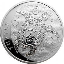 Strieborná investičná minca Niue Taku Hawksbill Turtle - Kareta pravá 1 Oz