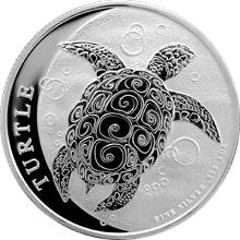 Stříbrná investiční mince Niue Taku Hawksbill Turtle - Kareta pravá 1 Oz