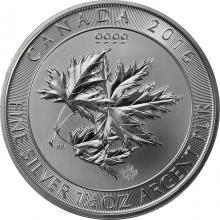 Stříbrná investiční mince Multi-Maple Leaf Superleaf 1,5 Oz