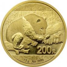 Zlatá investiční mince Panda 15g 2016
