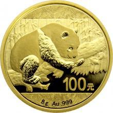 Zlatá investiční mince Panda 8g 2016