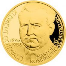 Zlatý dukát Českoslovenští prezidenti - Klement Gottwald 2015 Proof