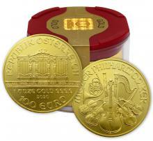 Zlatá investiční mince Wiener Philharmoniker 1 Oz (Odběr nad 10 Ks)