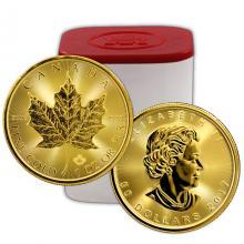Zlatá investiční mince Maple Leaf 1 Oz - Investiční Paket 10 Kusů