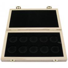 BEZ NÁPISU - Dřevěná krabička světlá 10 x Au ČNB 28 mm