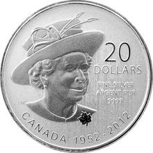 Stříbrná mince Diamantové výročí Elizabeth II. 2012 Standard (.9999)