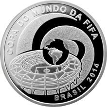 Stříbrná mince FIFA Mistrovství světa ve fotbale Brazílie 2014 Proof