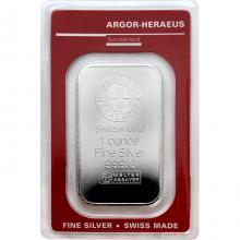 31,1g Argor Heraeus SA Švýcarsko Investiční stříbrný slitek