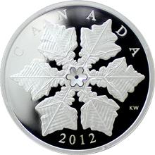 Stříbrná mince Sněhová vločka Krystal 2012 Proof (.9999)